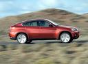 Фото авто BMW X6 E71/E72, ракурс: 270 цвет: красный