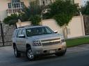 Фото авто Chevrolet Tahoe GMT900, ракурс: 315 цвет: серебряный