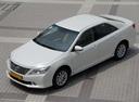 Фото авто Toyota Camry XV50, ракурс: 45 цвет: белый