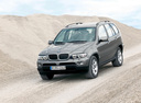 Фото авто BMW X5 E53 [рестайлинг], ракурс: 45 цвет: серый