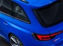 Фото авто Audi RS 4 B9, ракурс: задние фонари цвет: голубой