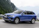 Фото авто Volkswagen Touareg 2 поколение [рестайлинг], ракурс: 45 цвет: синий