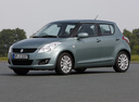 Фото авто Suzuki Swift 4 поколение, ракурс: 45 цвет: серый