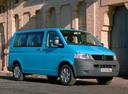 Фото авто Volkswagen Transporter T5, ракурс: 315 цвет: голубой
