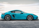 Фото авто Porsche Cayman 982, ракурс: 270 цвет: аквамарин