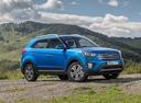 Фото авто Hyundai Creta 1 поколение, ракурс: 315 цвет: синий