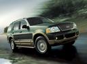 Фото авто Ford Explorer 3 поколение, ракурс: 315 цвет: зеленый