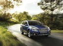 Фото авто Subaru Outback 4 поколение [рестайлинг], ракурс: 315 цвет: синий