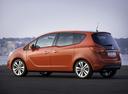 Фото авто Opel Meriva 2 поколение, ракурс: 90 цвет: оранжевый