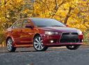 Фото авто Mitsubishi Lancer X [рестайлинг], ракурс: 315 цвет: красный