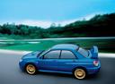 Фото авто Subaru Impreza 2 поколение [2-й рестайлинг], ракурс: 90 цвет: синий