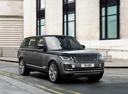 Фото авто Land Rover Range Rover 4 поколение [рестайлинг], ракурс: 315 цвет: серый