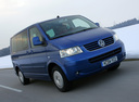 Фото авто Volkswagen Multivan T5, ракурс: 315 цвет: синий