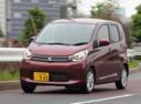 Фото авто Mitsubishi eK B11, ракурс: 45 цвет: красный
