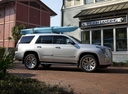 Фото авто Cadillac Escalade 4 поколение, ракурс: 270 цвет: серебряный