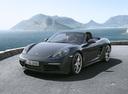 Фото авто Porsche Boxster 982, ракурс: 45 цвет: мокрый асфальт