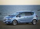 Фото авто Opel Meriva 2 поколение [рестайлинг], ракурс: 90 цвет: голубой
