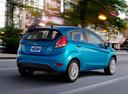 Фото авто Ford Fiesta 6 поколение [рестайлинг], ракурс: 225 цвет: голубой