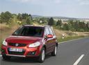Фото авто Suzuki SX4 1 поколение [рестайлинг], ракурс: 45 цвет: красный