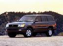 Фото авто Toyota Land Cruiser J100, ракурс: 45 цвет: черный
