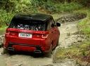 Фото авто Land Rover Range Rover Sport 2 поколение [рестайлинг], ракурс: 225 цвет: красный