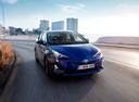 Фото авто Toyota Prius 4 поколение, ракурс: 315 цвет: синий