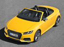 Фото авто Audi TT 8S, ракурс: 45 цвет: желтый