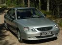 Фото авто Hyundai Accent LC, ракурс: 315 цвет: серебряный