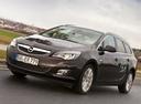 Фото авто Opel Astra J, ракурс: 45 цвет: коричневый