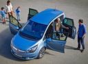 Фото авто Opel Meriva 2 поколение [рестайлинг], ракурс: 45 цвет: голубой