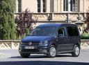 Фото авто Volkswagen Caddy 4 поколение, ракурс: 45 цвет: синий