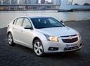 Фото авто Chevrolet Cruze J300, ракурс: 315 цвет: серебряный