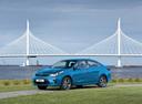Фото авто Kia Rio 4 поколение, ракурс: 45 цвет: голубой