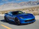 Фото авто Chevrolet Corvette C7, ракурс: 315 цвет: голубой