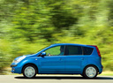 Фото авто Nissan Note E11, ракурс: 90 цвет: синий