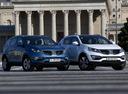 Фото авто Kia Sportage 3 поколение, ракурс: 315 цвет: голубой