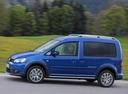 Фото авто Volkswagen Caddy 3 поколение [рестайлинг], ракурс: 90 цвет: синий