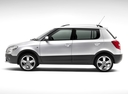 Фото авто Skoda Fabia 5J [рестайлинг], ракурс: 90 цвет: серебряный
