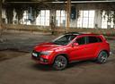 Фото авто Mitsubishi ASX 1 поколение [2-й рестайлинг], ракурс: 45 цвет: красный