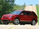 Фото авто Ford Explorer 5 поколение, ракурс: 45 цвет: красный