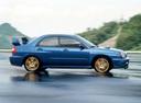 Фото авто Subaru Impreza 2 поколение, ракурс: 270 цвет: синий