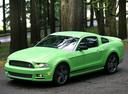 Фото авто Ford Mustang 5 поколение [2-й рестайлинг], ракурс: 45 цвет: салатовый