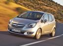 Фото авто Opel Meriva 2 поколение [рестайлинг], ракурс: 45 цвет: серебряный