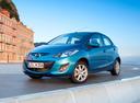 Фото авто Mazda 2 DE [рестайлинг], ракурс: 45 цвет: голубой