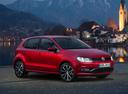 Фото авто Volkswagen Polo 5 поколение [рестайлинг], ракурс: 315 цвет: красный