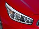 Фото авто Kia Cee'd 2 поколение [рестайлинг], ракурс: передние фары цвет: красный