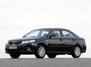 Фото авто Kia Magentis 2 поколение [рестайлинг], ракурс: 45 цвет: черный