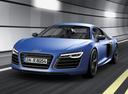 Фото авто Audi R8 1 поколение [рестайлинг], ракурс: 45 цвет: голубой