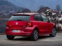 Фото авто Volkswagen Polo 5 поколение [рестайлинг], ракурс: 225 цвет: красный