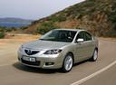Фото авто Mazda 3 BK [рестайлинг], ракурс: 45 цвет: бежевый